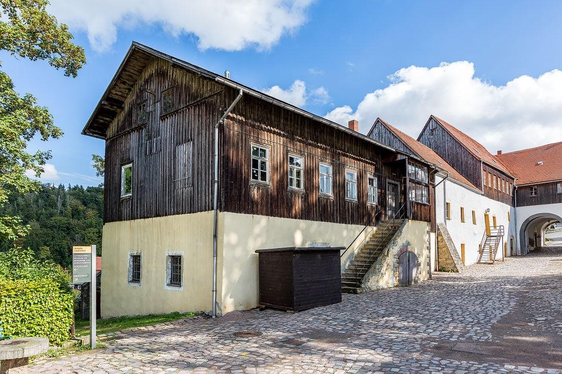 12 - Fotoreportage Schloss Lauenstein, Montane Kulturlandschaft Erzgebirge, UNESCO Weltkulturerbe, Montanregion, Bilder Bergbau, Fotos Architektur