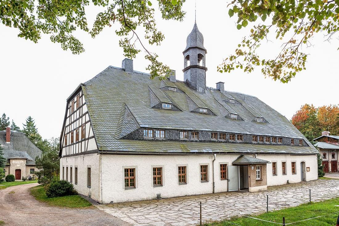 23 - Bilder Huthaus Brand-Erbisdorf, Montane Kulturlandschaft Erzgebirge, UNESCO Weltkulturerbe, Montanregion, Bilder Bergbau, Fotos Architektur