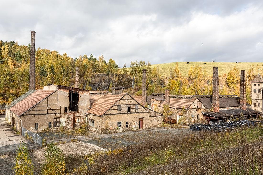 27 - Bilder Hüttenkomplex Muldenhütten, Montane Kulturlandschaft Erzgebirge, UNESCO Weltkulturerbe, Montanregion, Bilder Bergbau, Fotos Architektur
