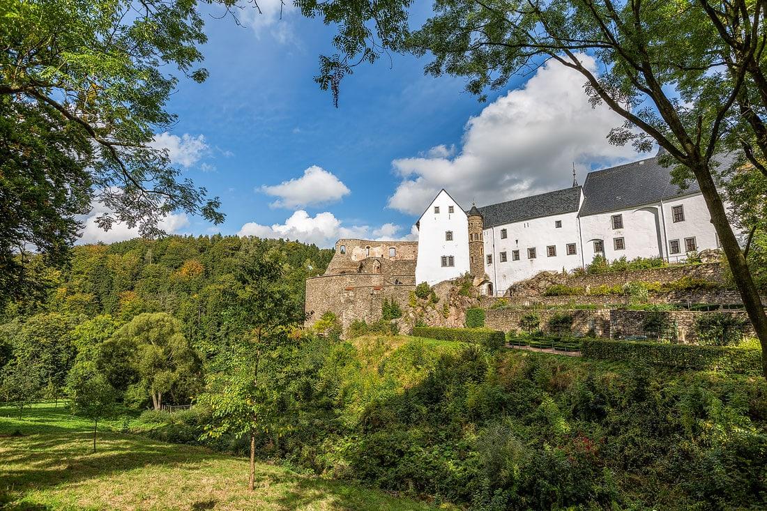 8 - Bilder Schloss Lauenstein, Montane Kulturlandschaft Erzgebirge, UNESCO Weltkulturerbe, Montanregion, Bilder Bergbau, Fotos Architektur